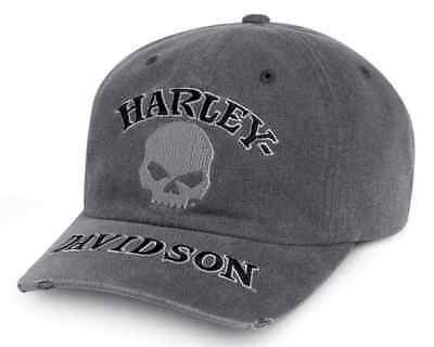 Harley-Davidson   Men's Willie G Skull Washed Baseball Cap