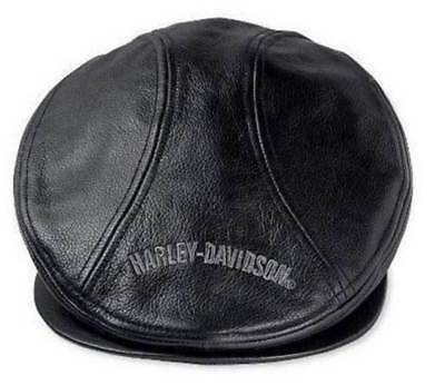 Harley-Davidson   Men's Nostalgic Trademark Leather Ivy Cap