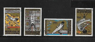 IVORY COAST 1980 Olympic Games Moscow, set of 4, CTO