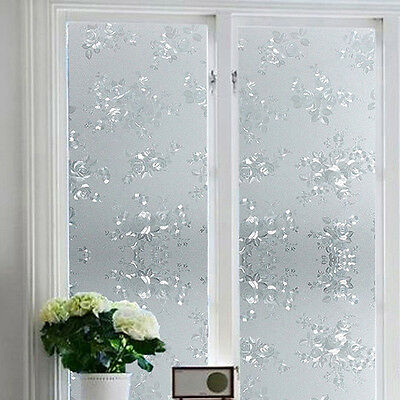 Frosted Privacy Frost Home Bedroom Bathroom Glass Window Film Sticker Decor AU