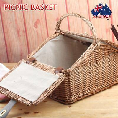 Deluxe 2 Person Picnic Basket Baskets Outdoor Corporate Gift Blanket Park AU