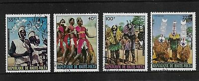 UPPER VOLTA 1973 Folk Dancers, Folklore, set of 4, CTO