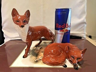 Set of 2 X Vintage Beswick Foxes #1016a and #1017