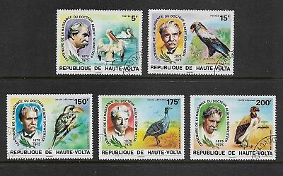 UPPER VOLTA 1975 Birth Centenary Dr Albert Schweitzer, set of 5, CTO