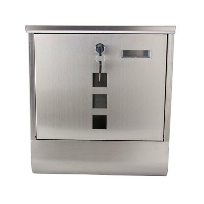 Large Stainless Steel Letter Mail Post Box Postbox Letterbox Mailbox Outdoor