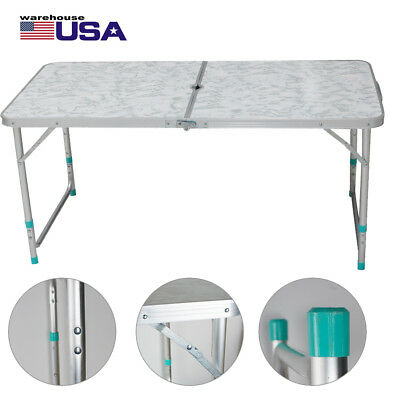 Portable Folding Table Plastic Indoor Outdoor Picnic Party Dining Camp Table USA