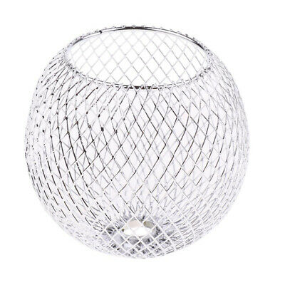 Chrome Iron Round Table Lamp Shade Chandelier Lampshade Modern Craft Light Cage