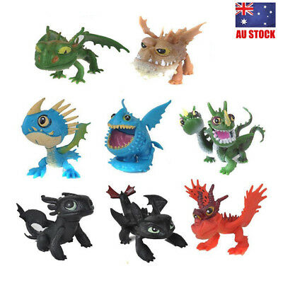 How To Train Your Dragon 2 Toothless 8PCS Movie Action Figure Doll Toys Kid Gift