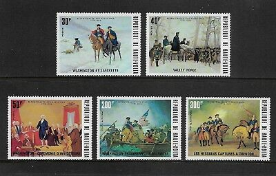 UPPER VOLTA 1975 Bicentenary American Revolution 2nd issue mint set of 5 MNH MUH