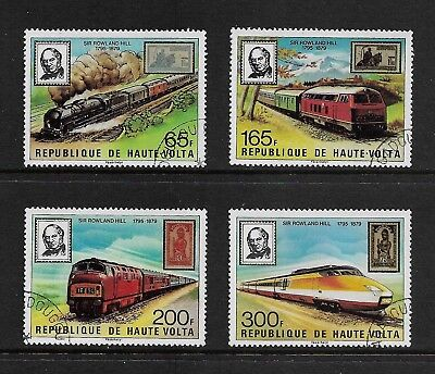 UPPER VOLTA 1979 Death Centenary Sir Rowland Hill, set of 4, CTO