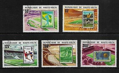 UPPER VOLTA 1978 World Cup Soccer, Football, Argentina, set of 5, CTO