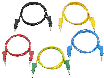 5x Messleitung Prüfkabel Messkabel Multimeter Laborkabel 4mm Bananenstecker