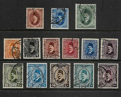EGYPT mixed collection No.15, 1923-1927 King Fuad I, used