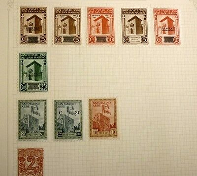 Group Lot Of Old Stamps, 10 Different, San Marino, All Mint