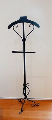 French Style VALET CLOTHES COAT STAND WROUGHT IRON NEW Black