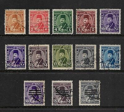 EGYPT mixed collection No.16, 1944 & 1953 King Farouk, used