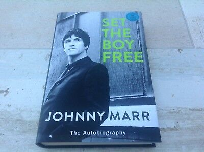 JOHNNY MARR Autographed SET THE BOY FREE Signed Book new The Smiths / Morrissey
