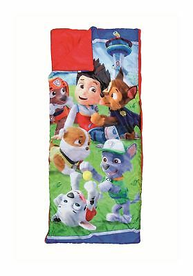 Paw Patrol Kids Junior Childrens Toddlers Sleeping Bag Camping Bed 150cm x 65cm