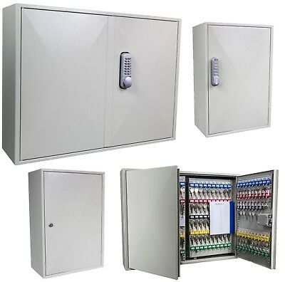 Large Steel Key Cabinet 200 - 600 Keys, Strong High Quality Metal Code