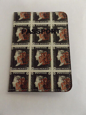 Brand New Penny Post Penny 1d Black Passport Holder Case Cover Postage Stamp
