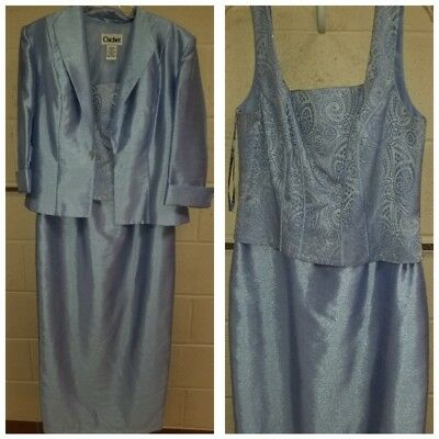 size 12 Perriwinkle blue mother of bride/groom dress 2 pc