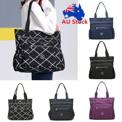 Fashion Women Girls Bag Waterproof Nylon Shoulder Bag Handbag Travel Tote Purse