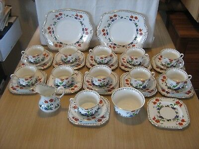 Vintage Tuscan China hand painted 37 piece tea service