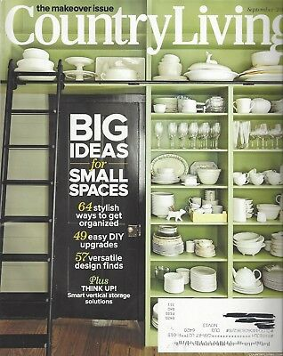 COUNTRY LIVING Magazine (Sept 2012) THE MAKEOVER ISSUE~ Small Spaces ~ F459