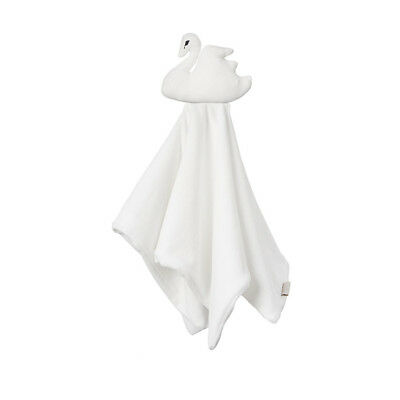 Swan Cuddle Cloth - Off White baby kids newborn wrap muslin squares