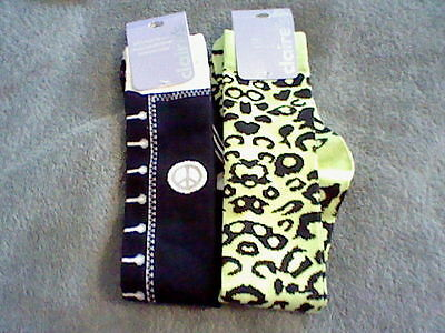 Brand New 2 Pair Of Girls Size 9-11 Knee High Socks