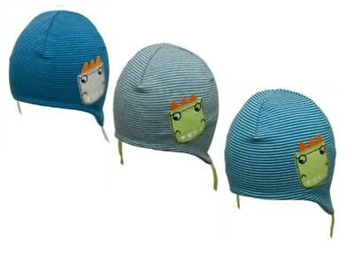 Infant Baby Boy Spring Autumn Soft Elastic Cotton Hat Cap With Strings 1-3 Month