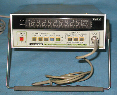 Leader LDC-823S Digital Frequency Counter. Works