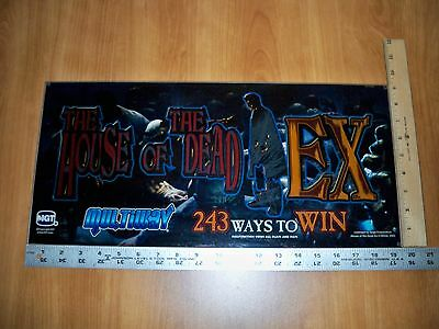 IGT The House of the Dead EX Slot Machine Glass