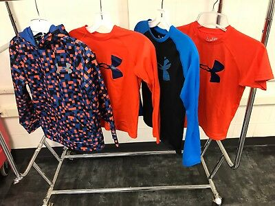 Under Armour Mixed Clothing Lot of 4 / Size Youth Small / Hoodie / Shirts