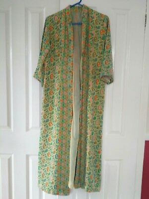 Unique hand-made vintage house coat, dressing gown
