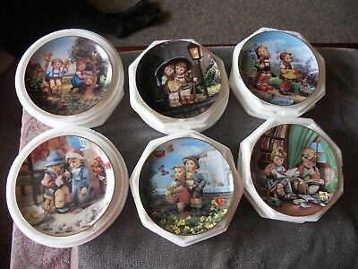 "Hummel ""Little Companions"" Danbury Mint Collector's Plates Gold Trim Set of 12"