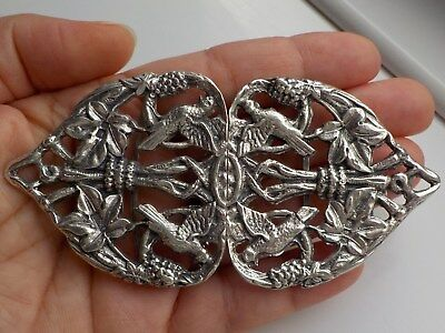 Old Vintage Solid Silver Buckle From Old Collection