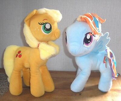 Rainbow Dash + Applejack MLP My little Pony 28/30 cm Stofftier Plüsch Apple Jack