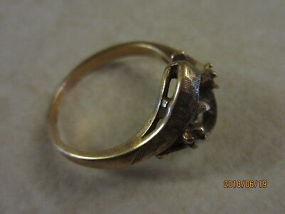 10k Gold Womens Ring Scrap Gold Size 6.75 - 2.9 Grams - Stones Removed