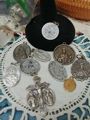 Vintage Religious Medals Lot of 10. *D