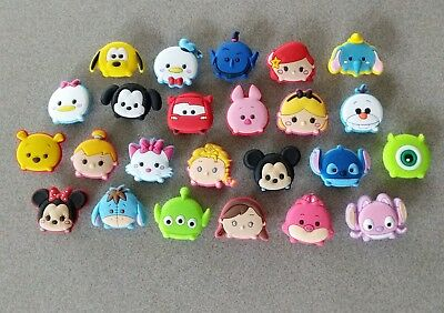 24 Tsum Tsum themed *USA* shoe/braclet jibbitz/jibitz pvc charms party favors
