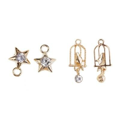 30 pieces little star Gold Plated Alloy Charm Pendant A0297