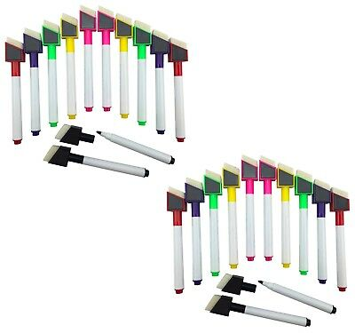 24 Shaped Magnetic Colour set white board marker pen dry wipe markers easy wipe