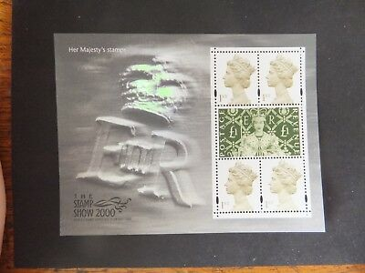 GB Miniature sheet. MS2147. Stamp show 2000, Her Majesty's stamps. MNH.