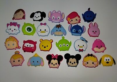 23 Tsum Tsum themed *USA* shoe/ bracelet PVC jibbitz charms party favor