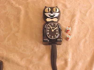 Vintage Classic Black Kit Cat Clock  Made In Usa , Battery Operated.