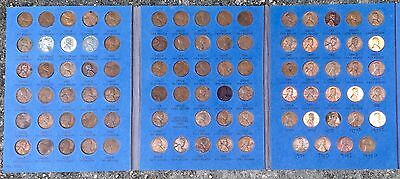 COMPLETE (88 coins) UNC & CIRCULATED 1941 to 1975 P,D,S Lincoln CENTS in WHITMAN