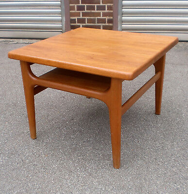 70s Teak Couchtisch Niels Bach vintage coffee side table d'appoint annees 70
