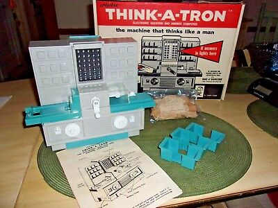 Hasbro - Vintage Punch Card Computer Game THINK-A-TRON