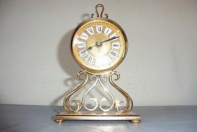 Vintage Swiss Solid Brass Imhof Mantle Clock ( Working )